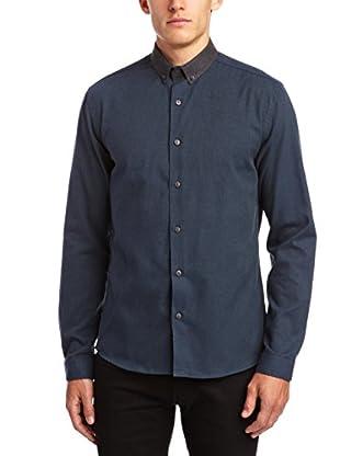 Selected Homme Camisa Hombre Calhoun (Azul)