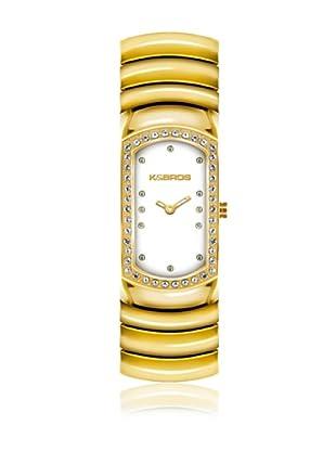 K&Bros  Reloj 9168 (Blanco / Dorado)