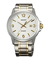 Orient Men White Dial Multicolor Metal Strap Round Shape, Made in Japan
