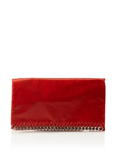 Latico Women's Billie Foldover Wallet (Flame)