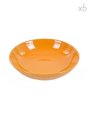 Kaleidos Set 6 Piatti Fondi (Arancio)
