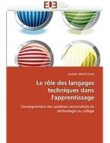 Le Role Des Langages Techniques Dans L'Apprentissage
