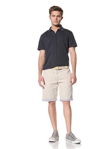 Tailor Vintage Men's Reversible Short (Navy Gingham Seersucker/Stone)