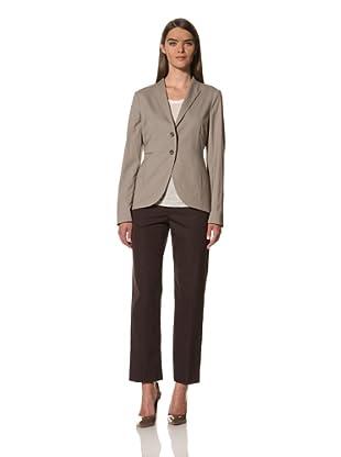 JIL SANDER Women's Stretch Wool Poplin Jacket