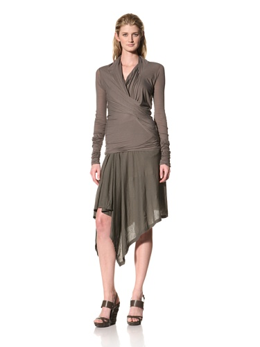 RICK OWENS Women's Cross Drape Top (Darkdust)