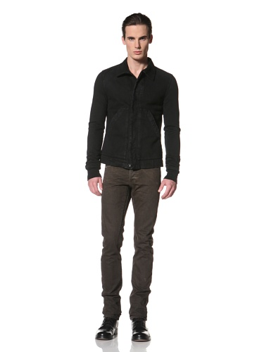 Rick Owens DRKSHDW Men's Dyed Denim Jacket (Triple Black)