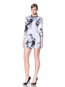 FACTORY by Erik Hart Women's Matte Jersey Long Sleeve Dress (Arctic Print)