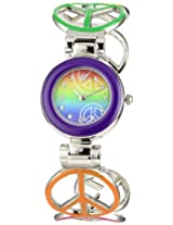 Frenzy Kids' FR285 Peace Novelty Analog Cuff Watch