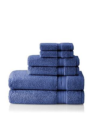 Pure Fiber Zero Twist 6-Piece Towel Set (Blue)