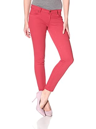 Rockstar Denim Women's Skinny Jean (Worn Red)