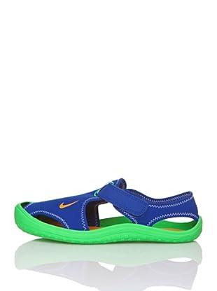 Nike Chanclas Sunray Protect (Ps) (Azul / Verde)