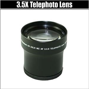 Pro Hd 3.5x Telephoto Digital Conversion Lens for the Nikon D5100 D3000 D5000 Digital SLR Cameras