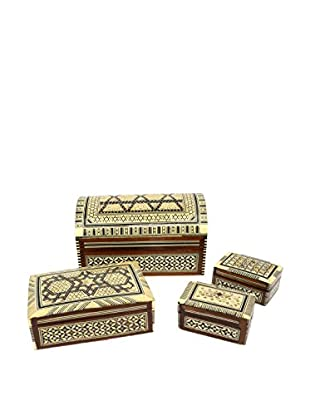 Uptown Down Set of 4 Tribal Boxes, Multi