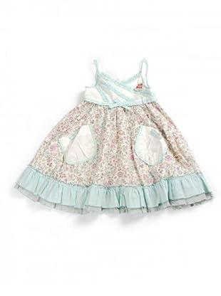 My Doll Kleid geblümt (meeresgrün/cremeweiß)