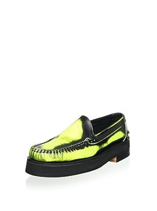 Alejandro Ingelmo Men's Camden Leather Venetian Loafer (Yellow)