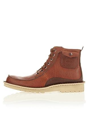 Clarks Leder Schnür-Boot Manly Camaro (Braun)
