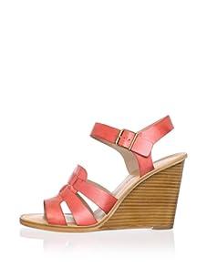 Pour La Victoire Women's Ivania Wedge Sandal (Red)