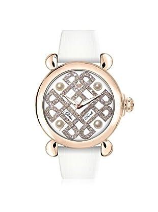 Glam Rock Women's GR28039 Vintage Glam White Genuine Leather Watch