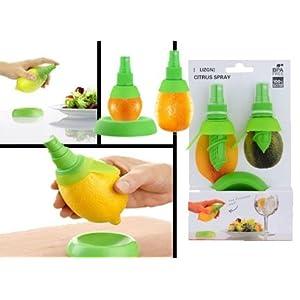 Citrus Spray Lemon Juice Sprayer Hand Juicer Mini Squeezer Kitchen Tool, 2 piece set, Multi colour
