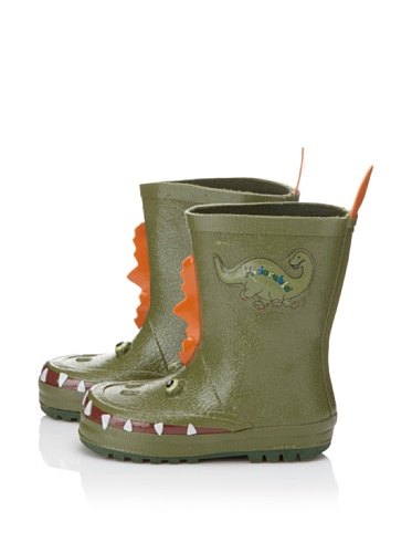Kidorable Dinosaur Rain Boot (Toddler/Little Kid) (Green)