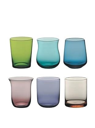 Bitossi Home Glas 6 tlg. Set Tumbler Clear mehrfarbig