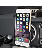 Amzer Swiveling Air Vent Mount Holder for iPhone 6 Plus, iPhone 6s Plus - Retail Packaging - Black