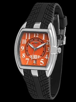 Sandoz 81254-04 - Reloj Fernando Alonso Señora negro / naranja
