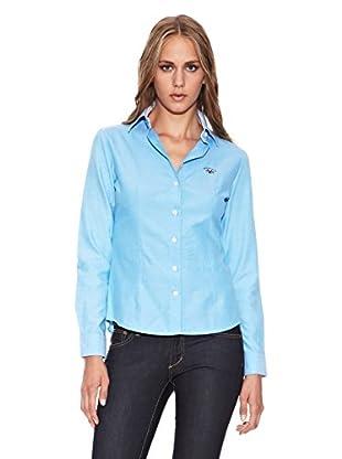 Spagnolo Camisa Oxford Trotta (Turquesa)