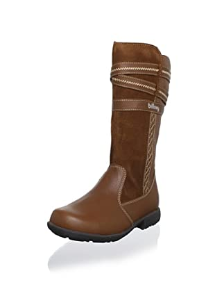 Billowy Kid's Strappy Tall Boot (Brown)