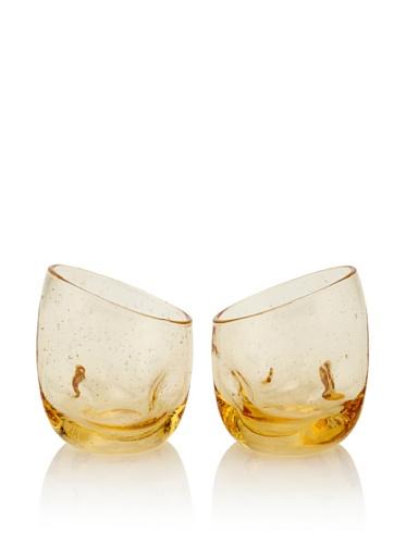 Tivoli Set of 2 Juice Glasses (Amber)