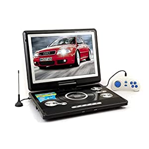 WORLDTECH PORTABLE DVD PLAYER WITH BUILT IN 11.5 INCH LED TV SUPPORT TV TUNER, USB, SD CARD,AV IN AND AV OUT