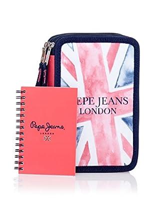 Pepe Jeans Cuaderno + Estuche Flag Azul Marino / Rosa