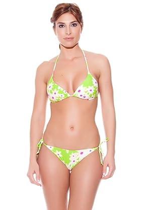 Teleno Bikini Cortina Braguita De Atar (Verde)