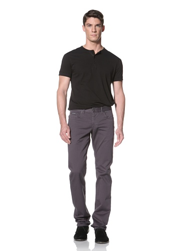 LOVE Moschino Men's Caipiroska Twill Pant (Dark Grey)