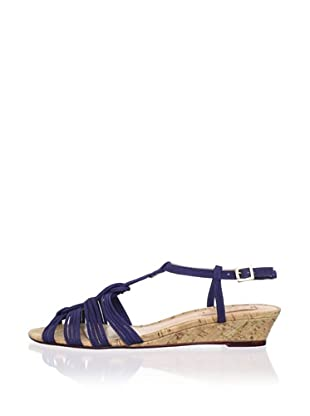 Schutz Women's Demi Wedge Sandal (Blue Print)