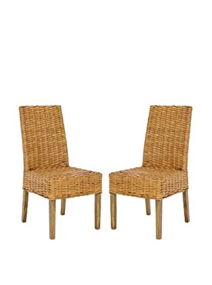 Safavieh Set of 2 Sanibel Side Chairs, Honey