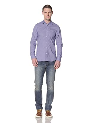 Descendant Of Thieves Men's Tight Check Long Sleeve Woven Shirt (Mist)