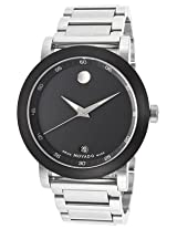 Movado Museum Sport Analogue Black Dial Men's Watch - 606604