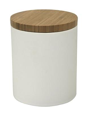 Ambiance Nature Tarro de porcelana con tapa de bambú