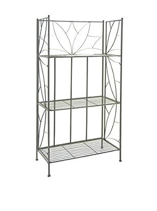 Three Hands 3-Tier Book Shelf, Rust