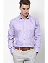 Peach Solid Formal Shirt