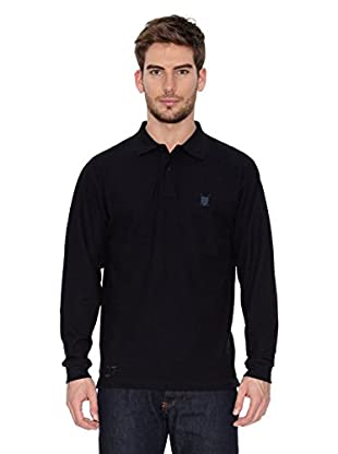 Polo Club Polo Manga Larga Regular Fit (Negro)