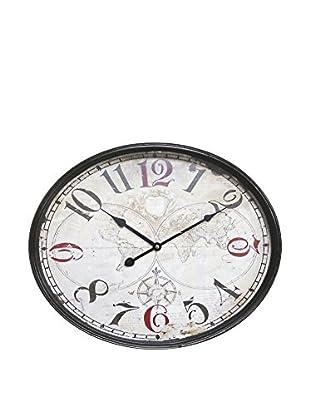 GALILEO Reloj De Pared 58X47 Mappamondo Gris