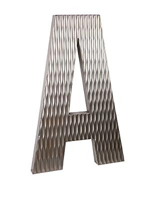Privilege Large Wood Letter A Design, Silver