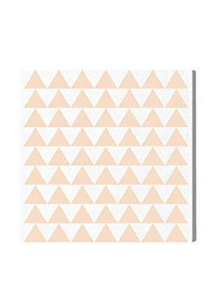 Oliver Gal 'Peach Triangles' Canvas Art