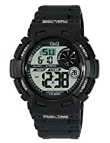 Q&Q Regular Digital White Dial Men's Watch - M142J002Y
