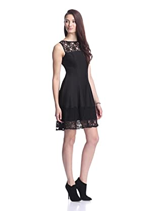 Julia Jordan Women's Sleeveless Dress with Lace (Black)