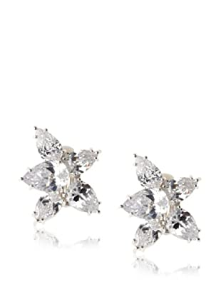 CZ by Kenneth Jay Lane Cluster Pear Earrings