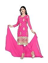 Vardhman AMAYA Women's Rani Chanderi unstitched Straight Salwar Suit dress material
