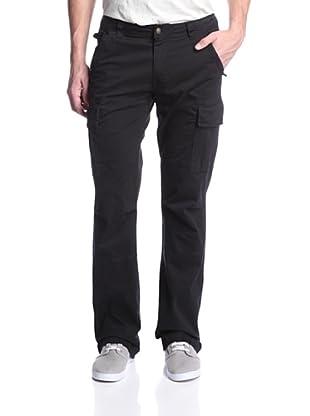 Jimmy Taverniti Men's Slim Boot Cargo Pant (Black)
